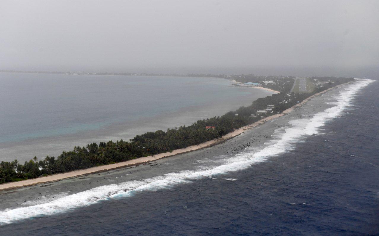 吐瓦魯首都富那富提島。歐新社