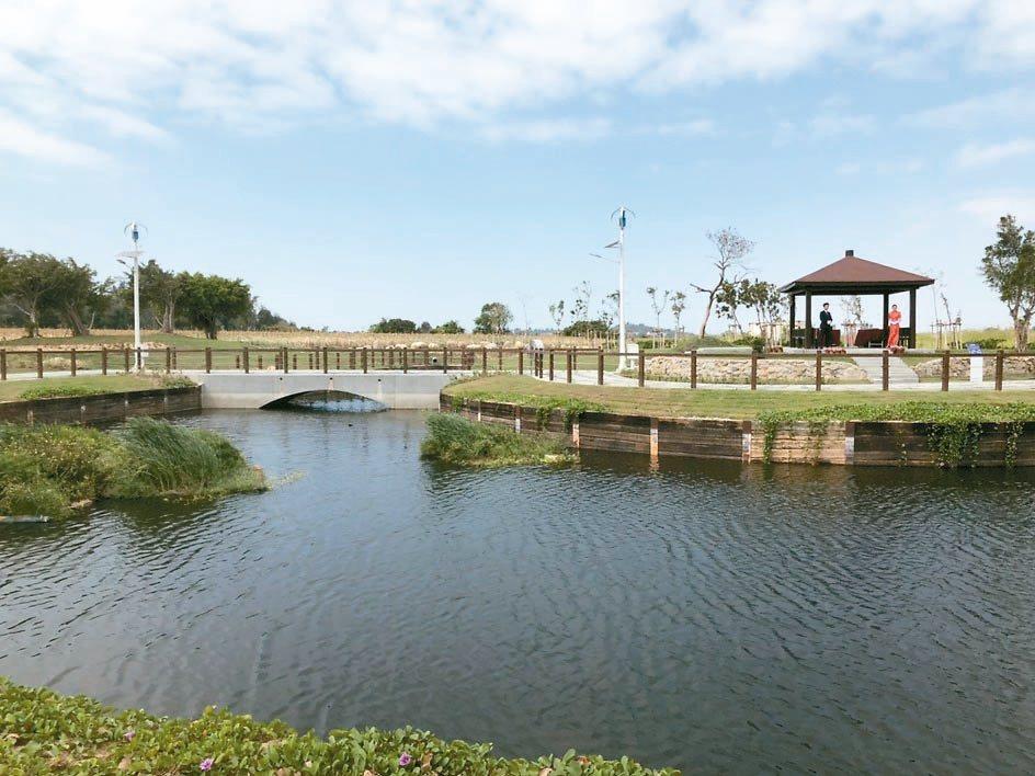 金門首座綠能生態教育園區,可能成為歐亞水獺與金龜友善的棲息環境。 記者蔡家蓁/攝...