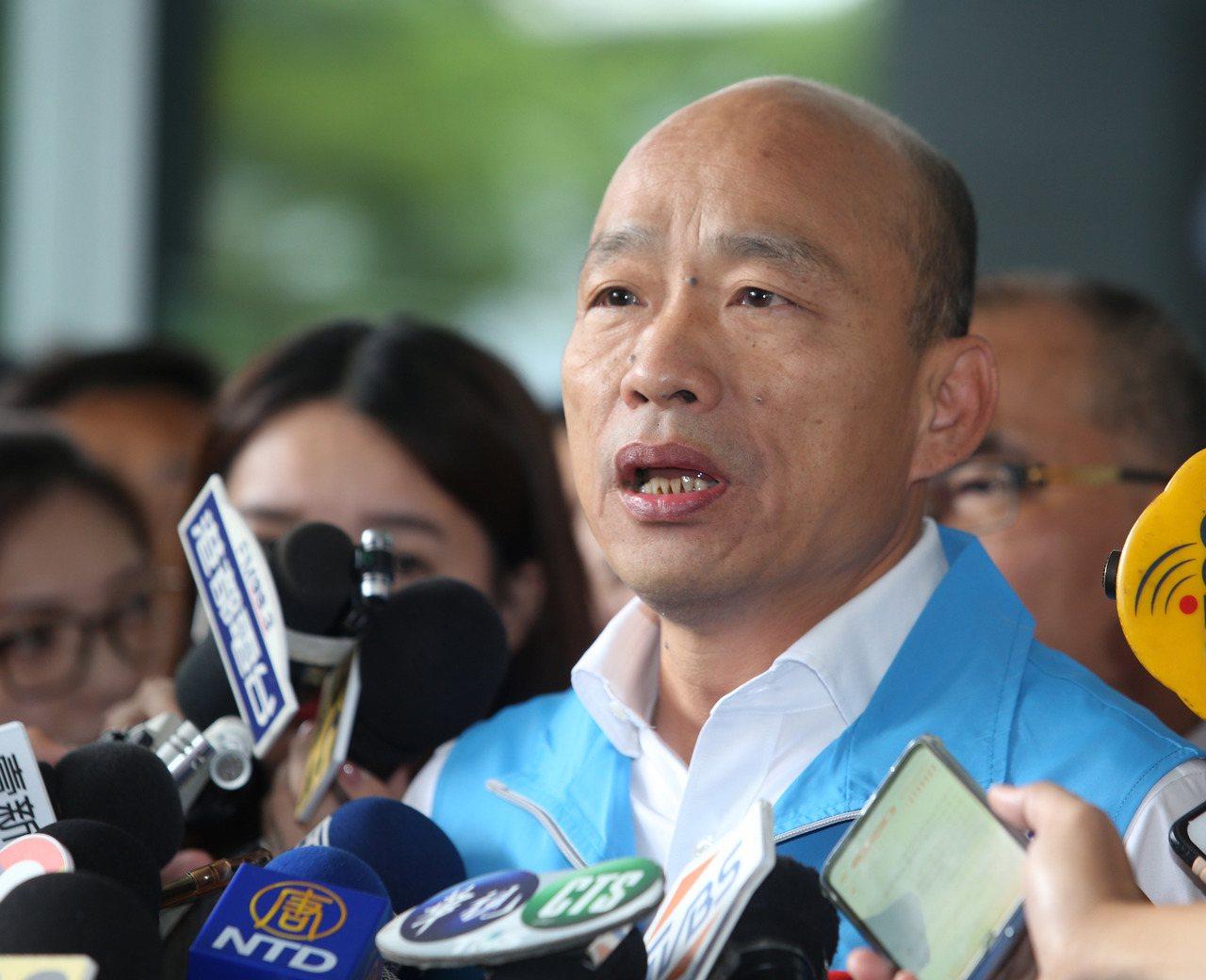 高雄市長韓國瑜宣布昨起請假參選。圖/聯合報系資料照片