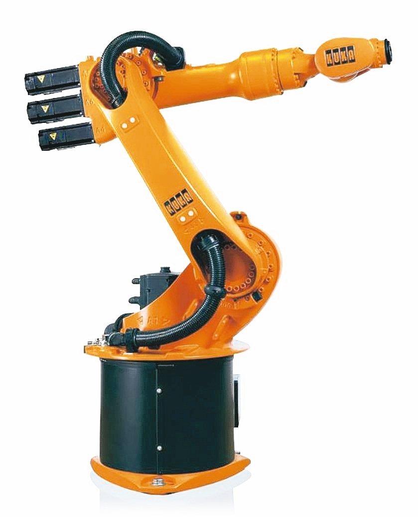 世寶公司引進德國庫卡(KUKA)工業機器人。 世寶公司/提供