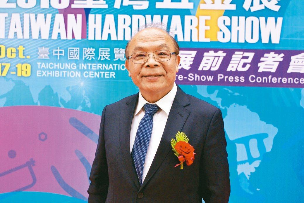 台灣手工具公會理事長黃信德。 吳青常/攝影