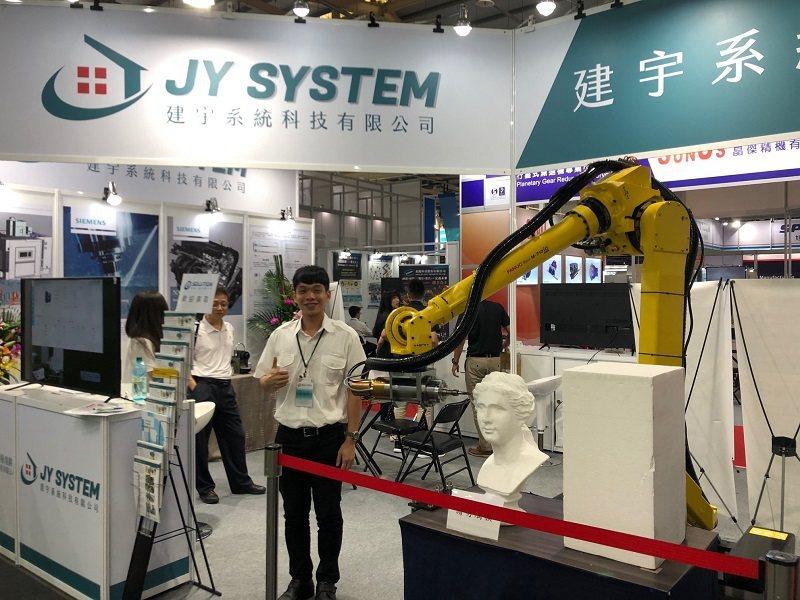 建宇系統科技公司協助廠商智能化與自動化系統服務。 蔣佳璘/攝影