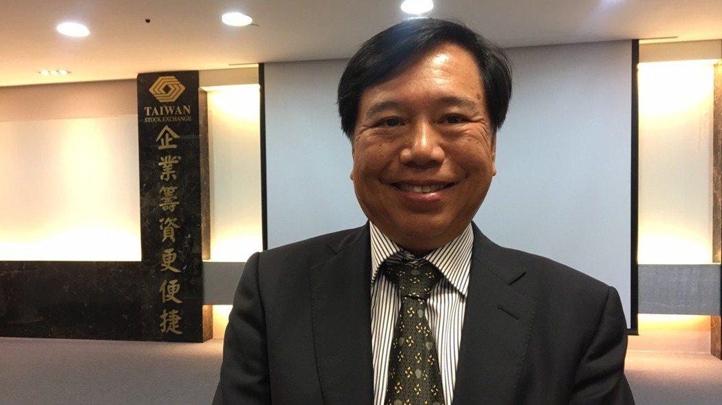 聯嘉光電董事長黃國欣。 記者李孟珊/攝影