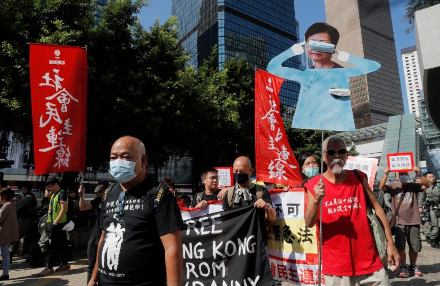儘管香港「反送中」運動觸發一股「反中」情緒,當局仍然希望立法會盡早通過國歌條例草...