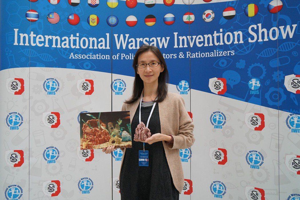 中華大學作品「重製綠色珊瑚礁」。 中華創新發明學會/提供。