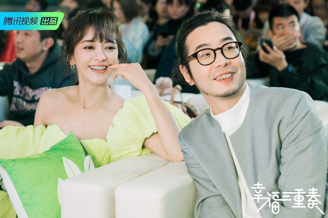 陳意涵與導演老公許富翔參加大陸實境節目《幸福三重奏》。 圖/擷自幸福三重奏微博