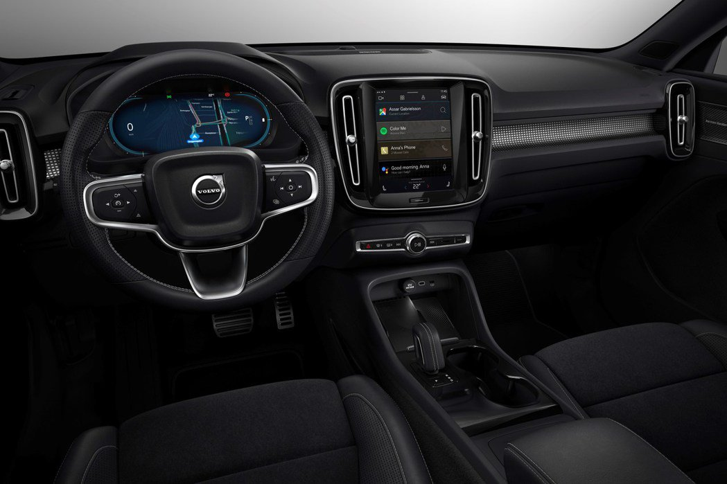 Volvo XC40 Recharge內裝與內燃機車款配置相同。 摘自Volvo