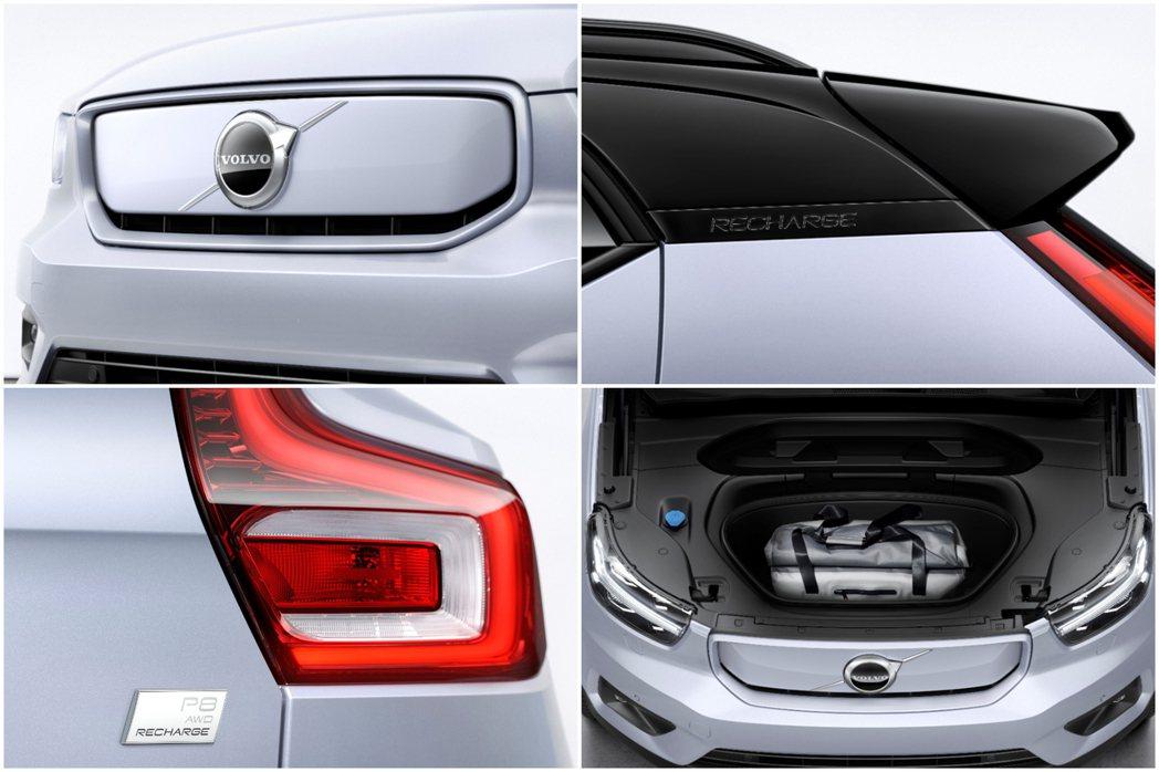 Volvo XC40 Recharge外觀最大的差異在於裝載封閉式水箱護罩。另外...
