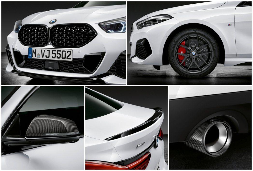 碳纖維質料與黑色高光則烤漆融入了搭配M Performancew套件的BMW 2...