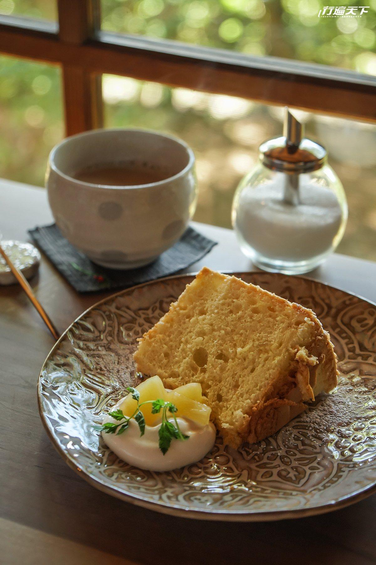 ▲戚風蛋糕最適合悠哉午後佐茶同享。