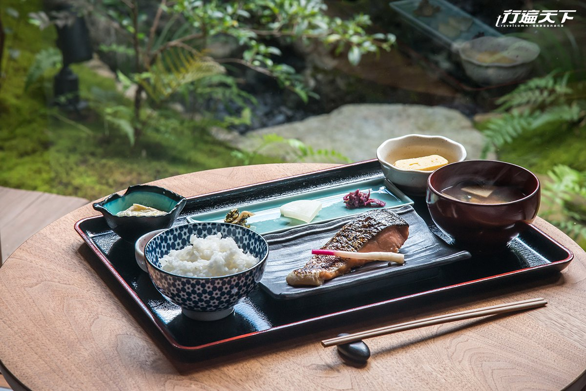 ▲每日可選擇的日式早餐,好享受的用整棟200年京町家來打造早晨醒胃空間。