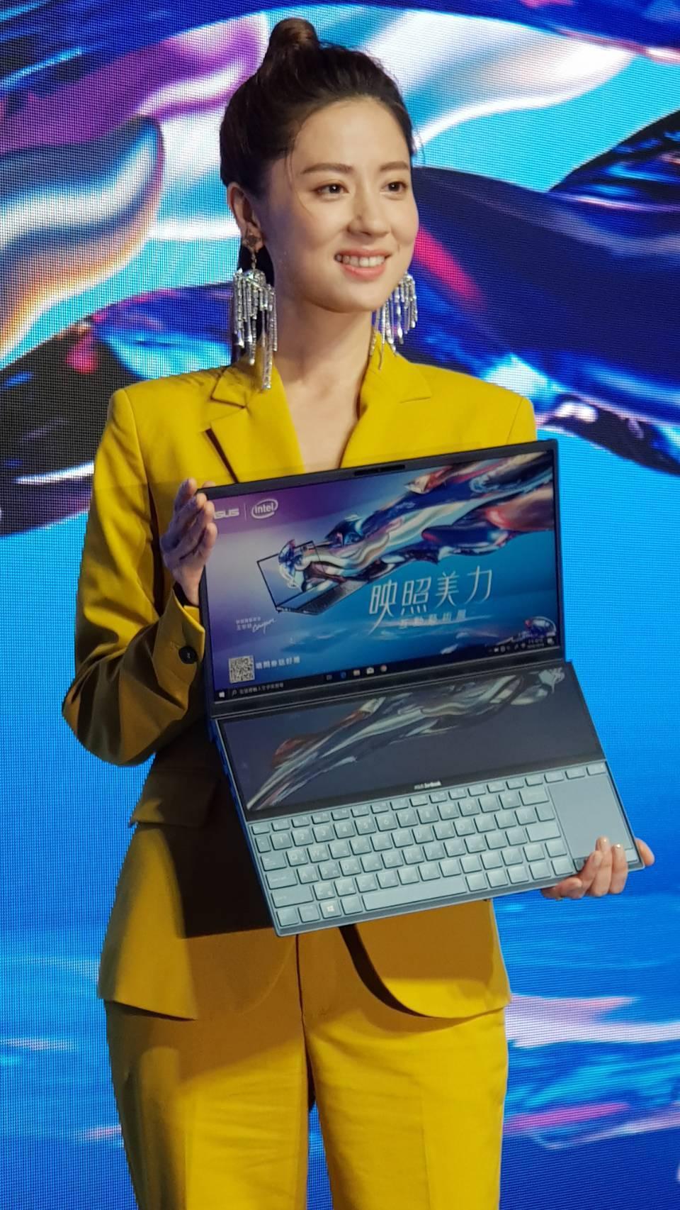 林予晞出席電腦品牌記者會。記者杜沛學/攝影