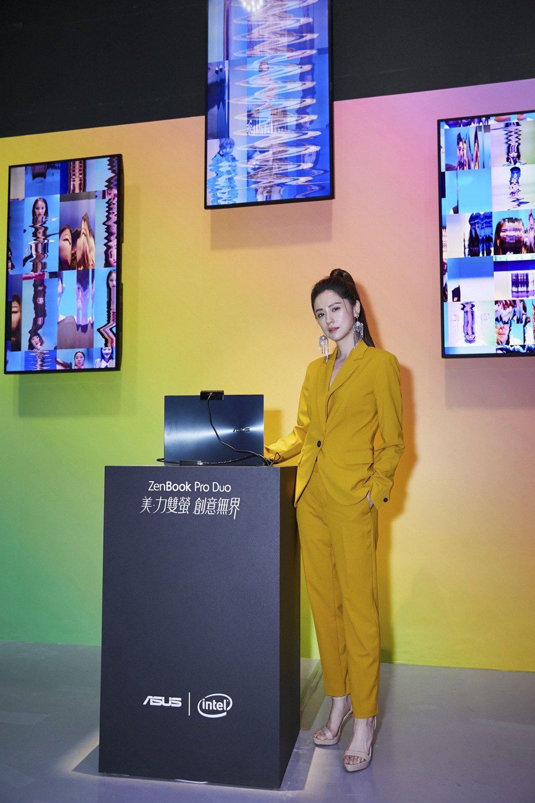 林予晞出席電腦品牌記者會。圖/ASUS提供