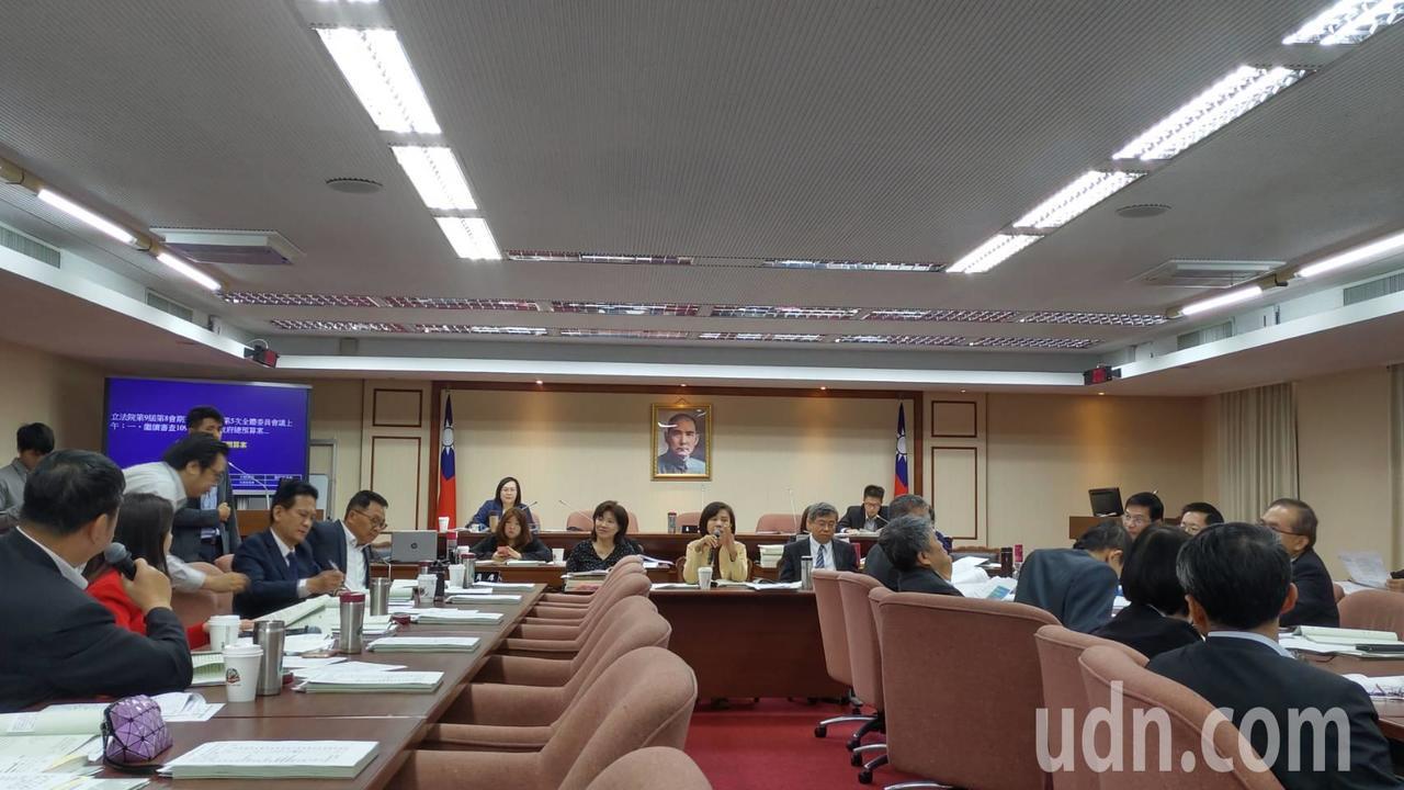 立法院交通委員會今天審查交通部相關預算。記者董俞佳/攝影