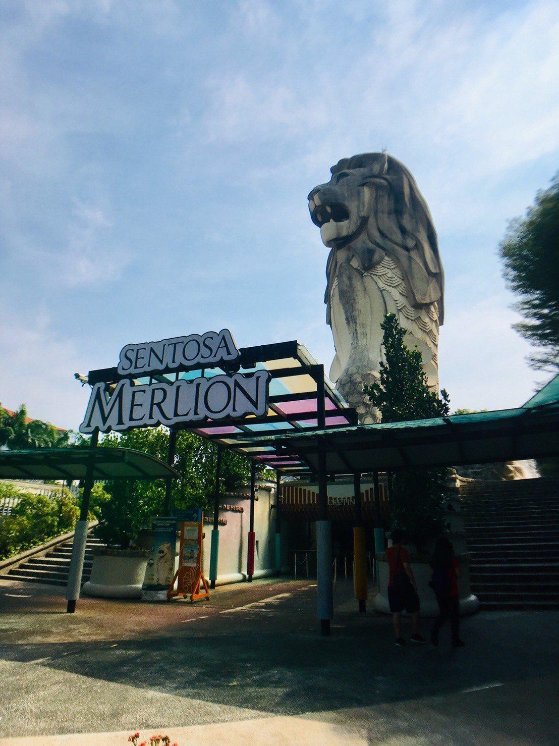 新加玻聖淘沙魚尾獅塔將於10月21日拆除。記者張雅婷/攝影