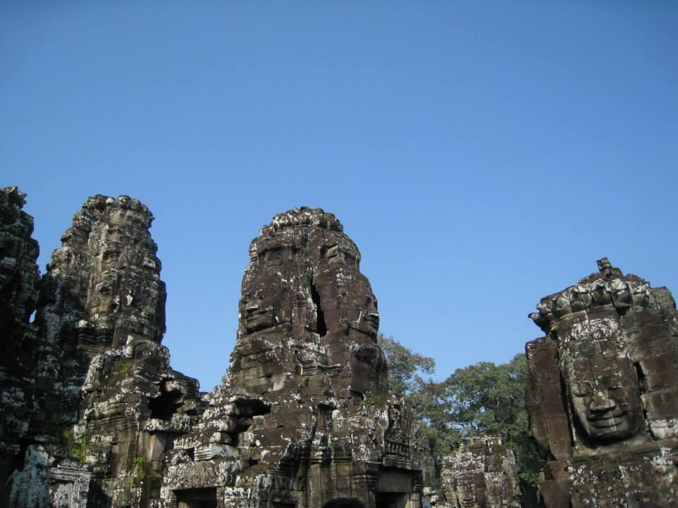 柬埔寨深受歡迎的巴戎寺中心塔2020年1月1日起將暫時封閉。記者張雅婷/攝影