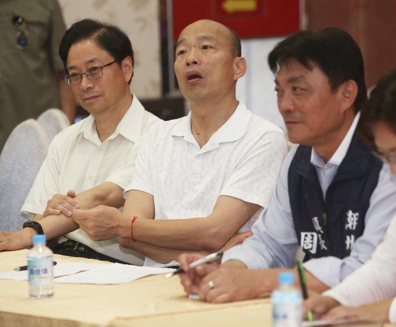 國民黨總統參選人韓國瑜。記者劉學聖/攝影