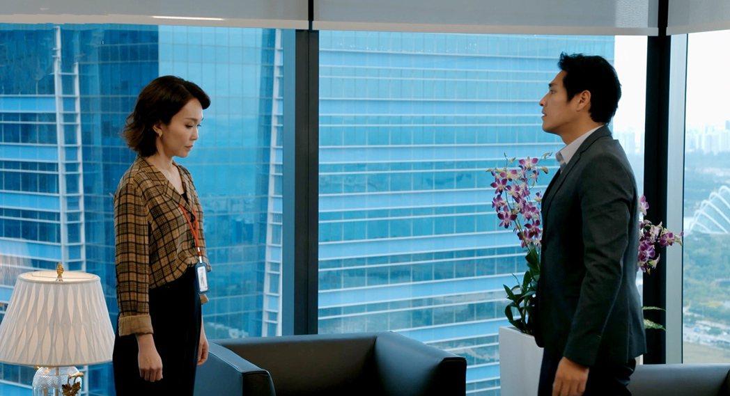 范文芳(左)與藍正龍有許多對手戲。圖/拙八郎提供