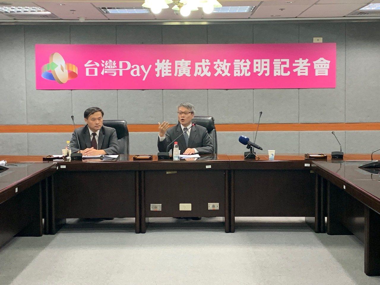 財金公司總經理黃昱程、董事長林國良(由左至右)召開記者會說明。記者徐力剛/攝影