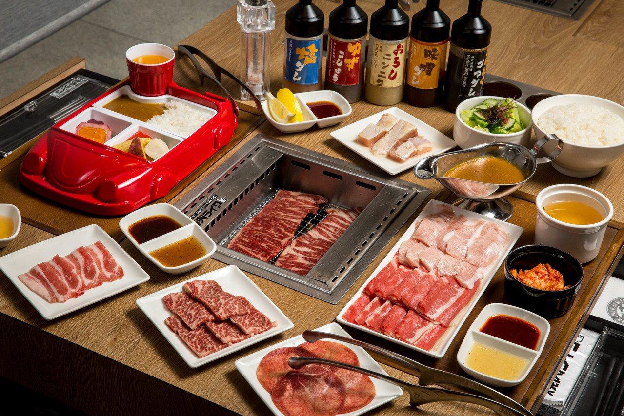燒肉LIKE設計有個人烤爐,方便獨自用餐的民眾品嚐燒肉。圖/燒肉LIKE提供