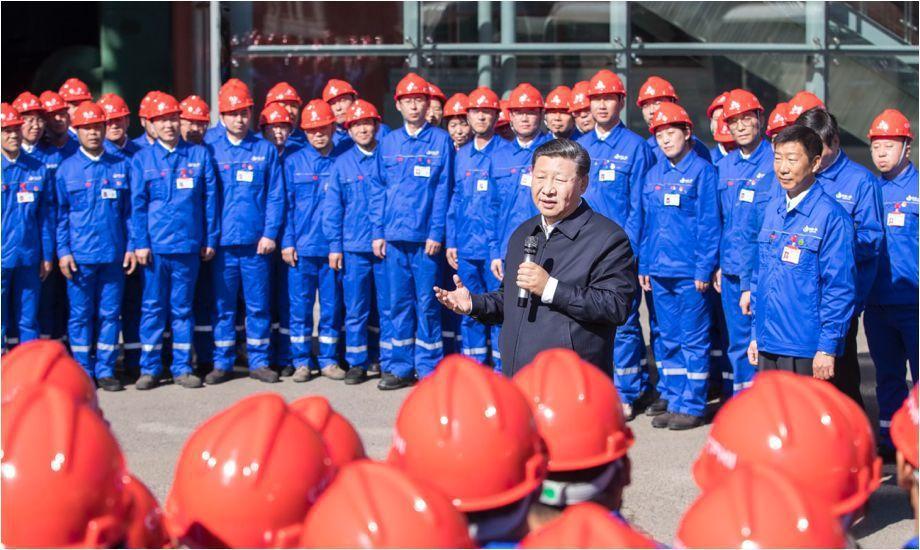 2018年9月習近平在黑龍江考察中央企業。(國資委網站)