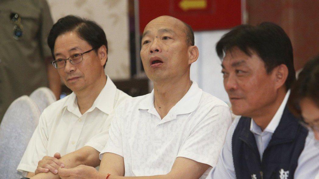 國民黨總統參選人韓國瑜。 記者劉學聖/攝影