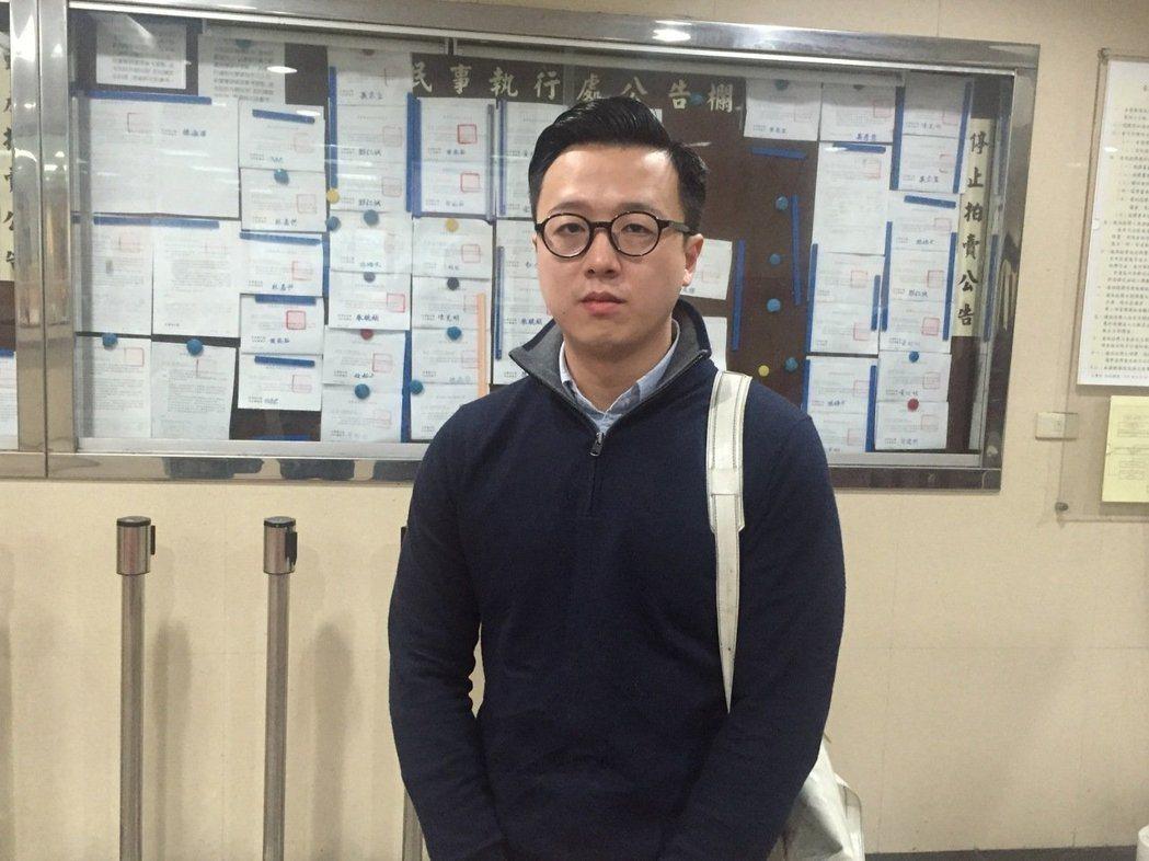 國民黨新生代次團「草協聯盟」發起人李正皓。報系資料照片。