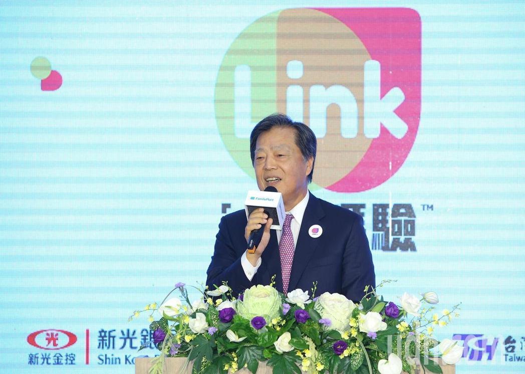 新光銀行董事長李增昌致詞。記者陳柏亨/攝影