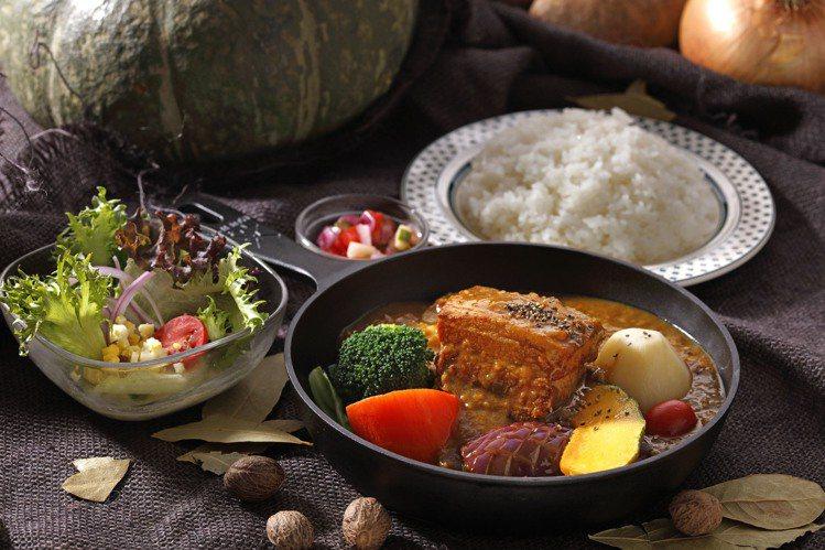 究好豬角煮咖哩,每份290元。圖/泰迪農園咖哩提供