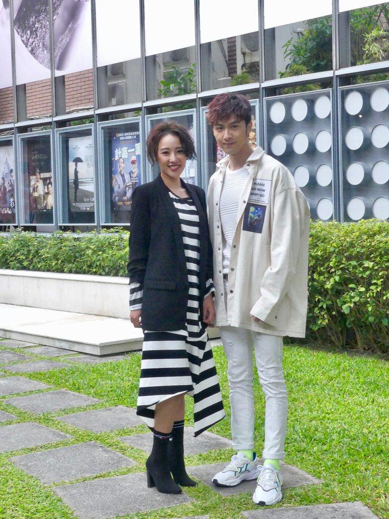 方宥心(左)、張雁名主演新戲「烏陰天的好日子」。。圖/客家台提供