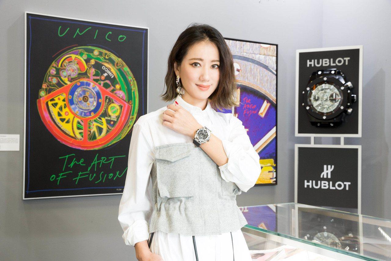 盧南君出席宇舶表「融合的藝術」特展。圖/HUBLOT提供