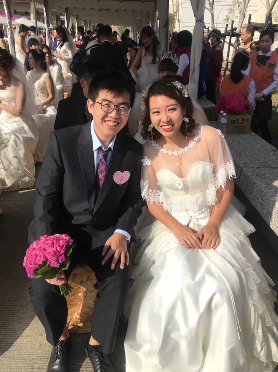 嘉義市去年的市民集團結婚,充滿溫馨。圖/嘉義市府提供