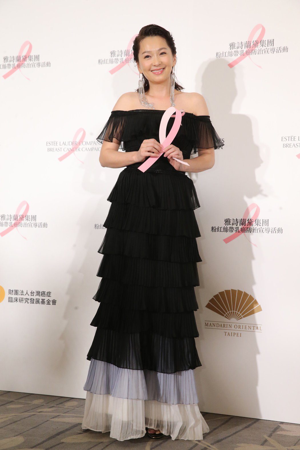 六月出席乳癌防治晚會。記者徐兆玄/攝影