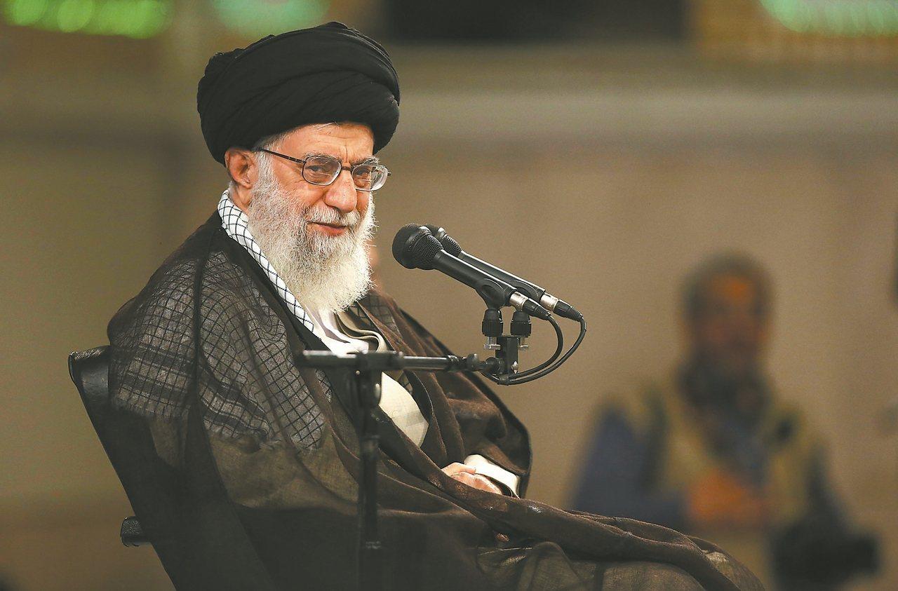 伊朗最高領袖哈米尼。 (美聯社)