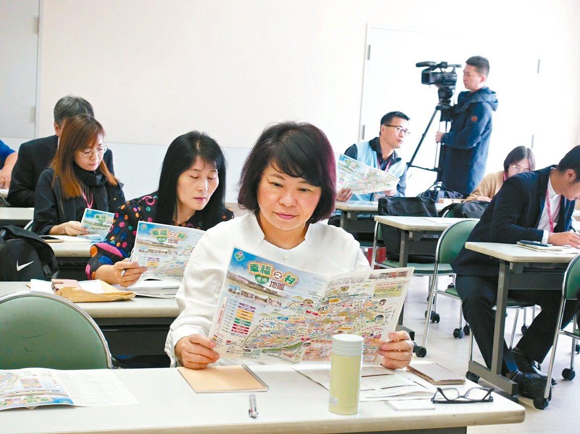 嘉義市長黃敏惠(前)參訪日本神戶幸福村,希望引入日本成功的長照模式。 圖/嘉義市...