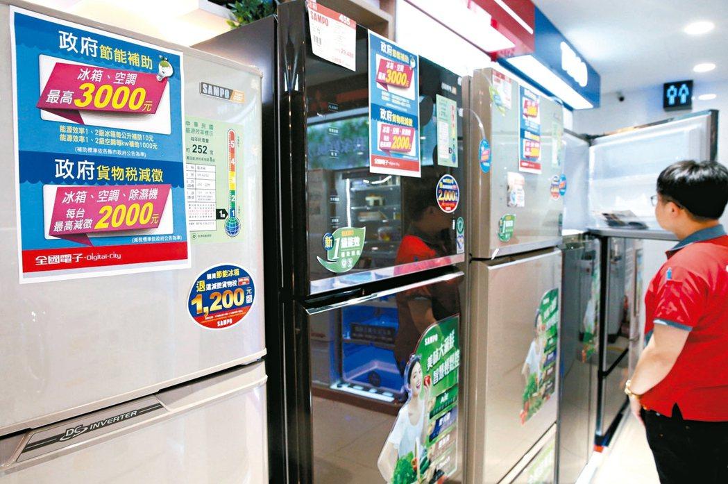 購買節能家電雖有補助,但一台二到三萬元的冰箱,弱勢戶仍然負擔不起。 記者林俊良/...