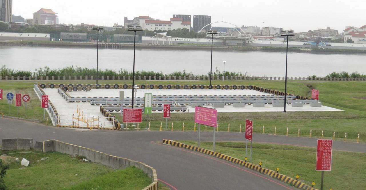 三重區淡水河畔機車練習場將在10月底開放使用。圖/議員陳啟能提供