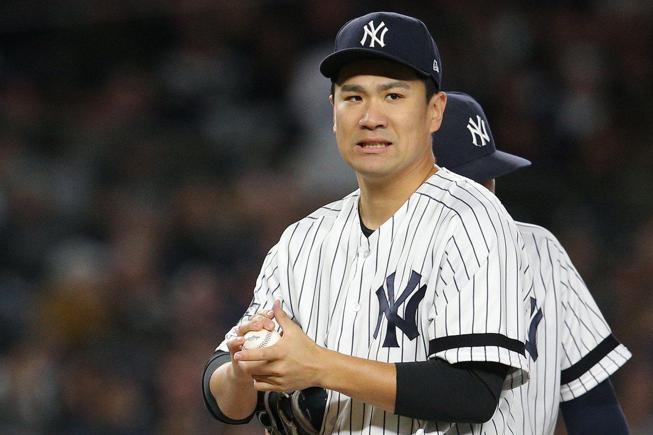 田中將大5局丟4分吞敗。 路透