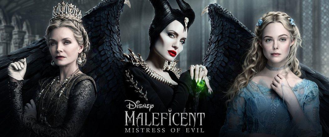 蜜雪兒菲佛(左起)、安琪莉娜裘莉、艾兒芬妮在「黑魔女2」愛恨糾葛複雜。圖/摘自imdb