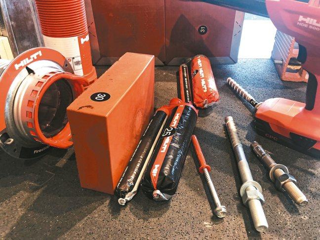 楔形錨栓是HILTI最成功的商品之一。 圖/孫曼