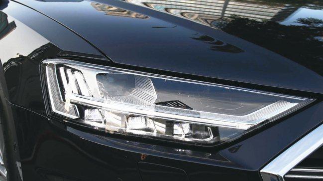配置高階矩陣式LED極光頭燈,在任何天候狀況下,皆可依路況與車輛相對距離主動調整...