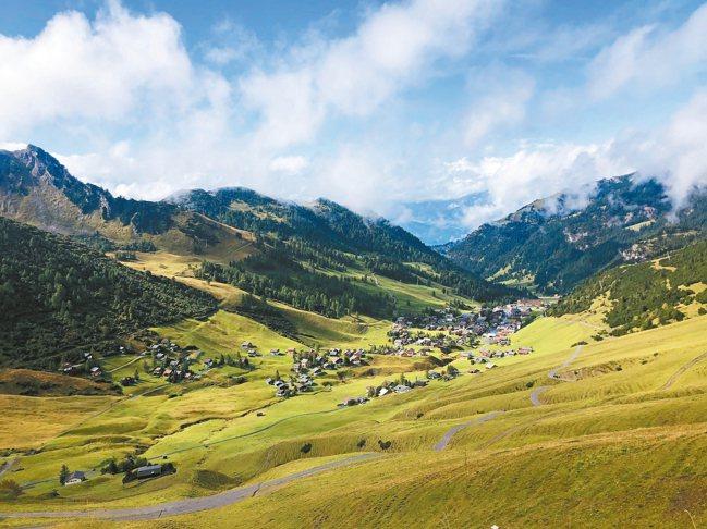 馬爾邦景色如畫,是列支敦士登的觀光勝地。 圖/孫曼
