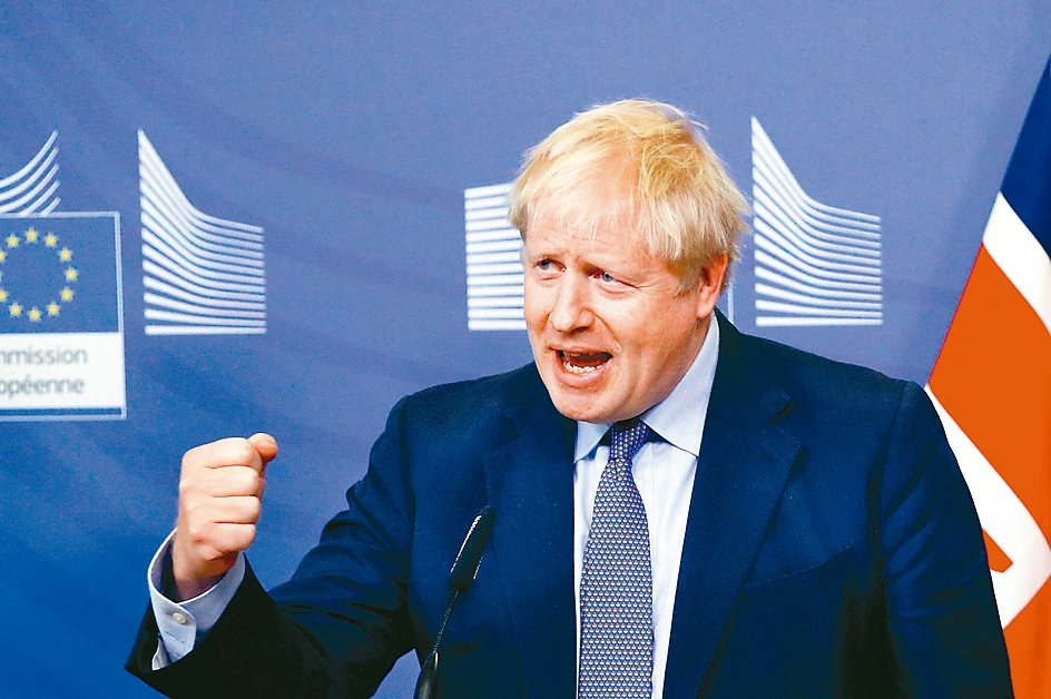 英國首相強森 路透