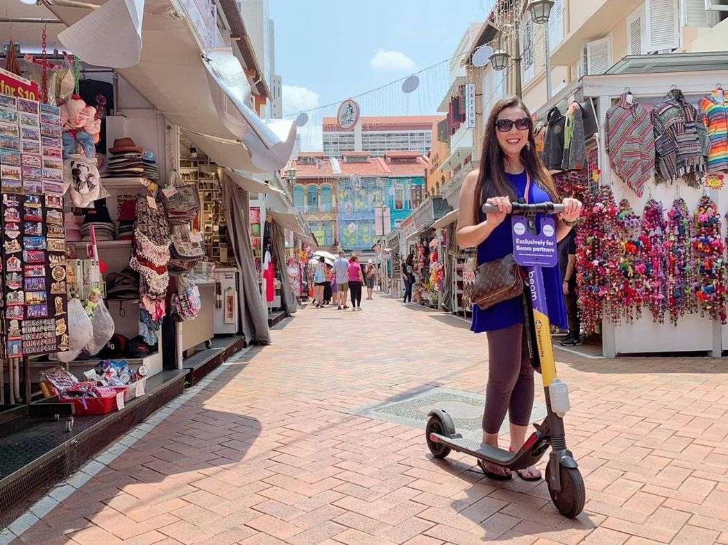 電動滑板車在新加坡作為智慧觀光的微型交通工具 業者/提供