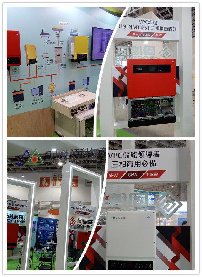 固德威(GOODWE)逆變器為展場風頭最健的產品。擠進業界前4大品牌,供應台灣1...