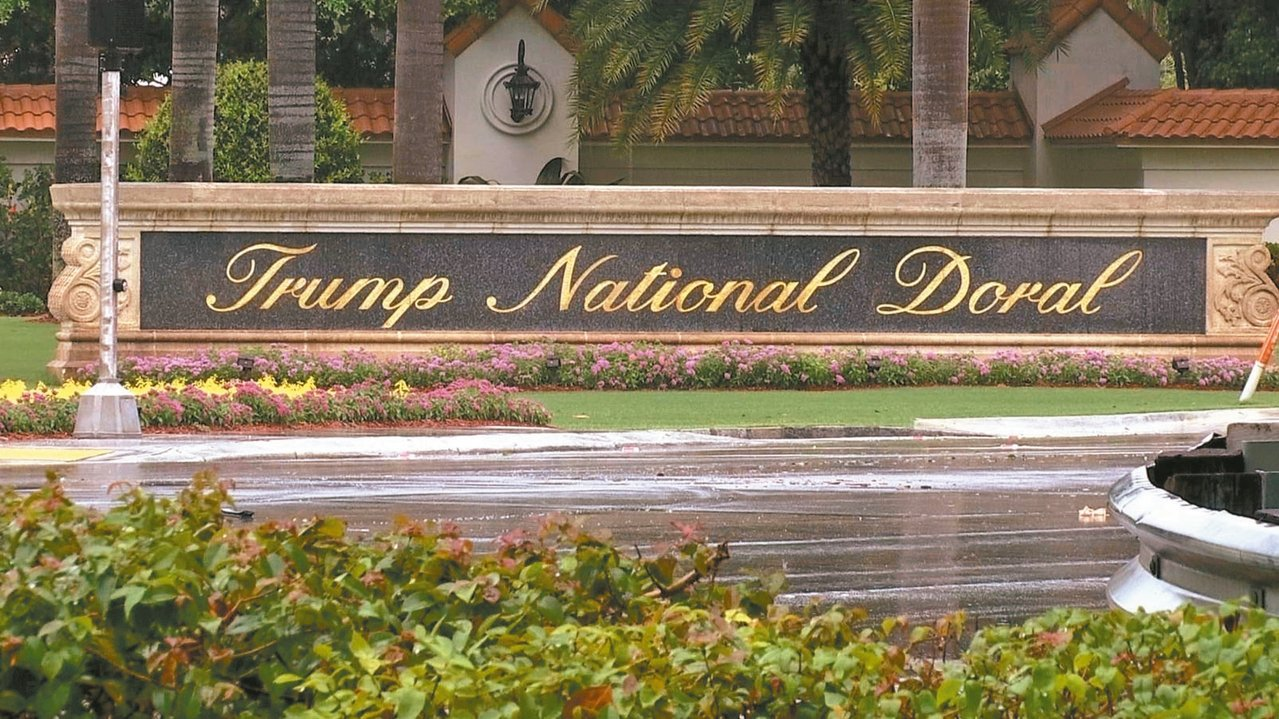 邁阿密川普國家都瑞爾高爾夫度假村。 美聯社