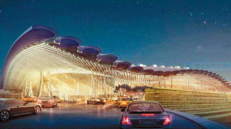 桃機第三航廈建築三度流標,桃機公司今天向交通部報告要簡化設計以利工程招標。 圖/取自桃機官網