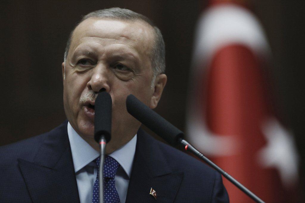 土耳其總統艾爾段。美聯社