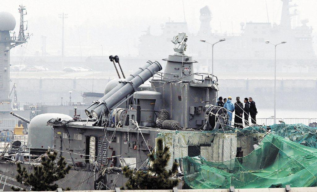 2010年南韓「天安艦」爆炸沈沒 (見圖),被認為是遭北韓魚雷擊中。美聯社資料照