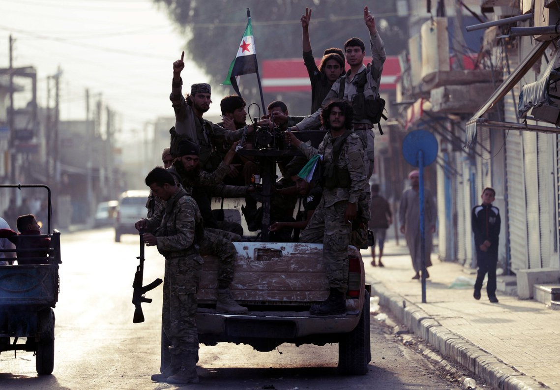 敘利亞反抗軍。 圖/路透社